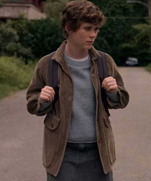 I Am Not Okay with This Sophia Lillis Brown Corduroy Jacket