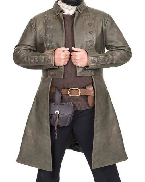 Sam Heughan Outlander Brown Coat