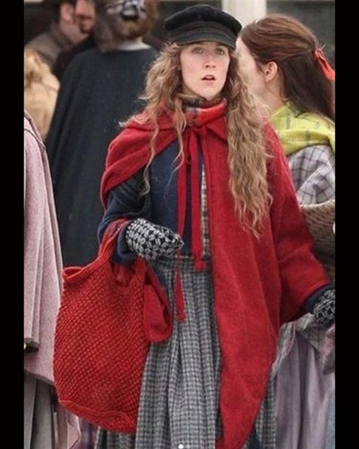 Saoirse Ronan Red Wool Blend Red Coat