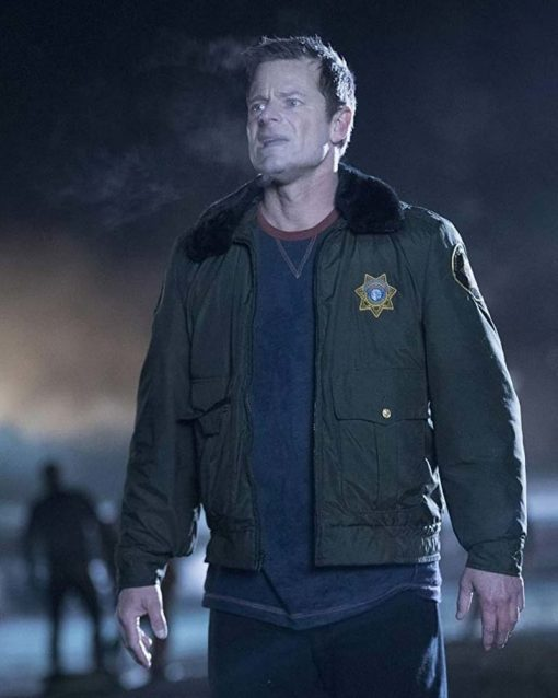 Steve Zahn Green Jacket with Fur Collar