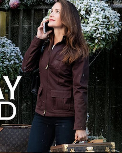 Holiday In The Wild Kristin Davis Brown Cotton Jacket