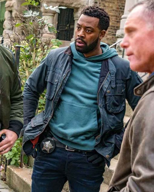 Chicago P.D LaRoyce Hawkins Kevin Atwater Cotton Blue Jacket