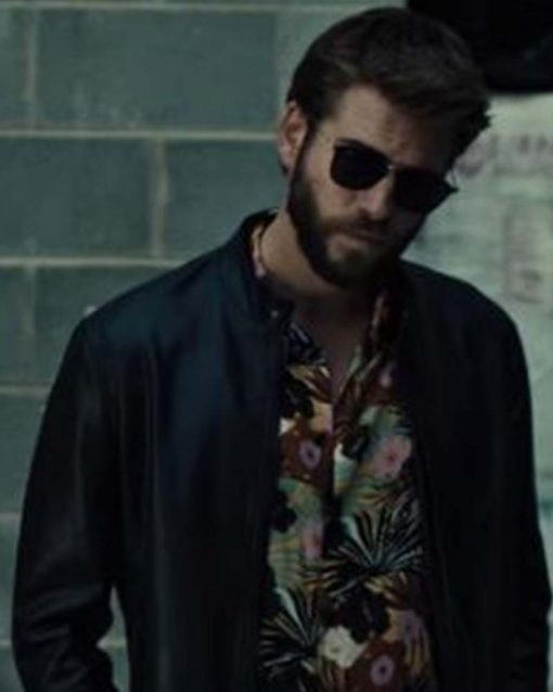 Killerman Liam Hemsworth Black Leather Jacket