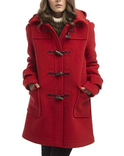 To All the Boys P.S. I Still Love You Lana Condor Red Coat With Hood