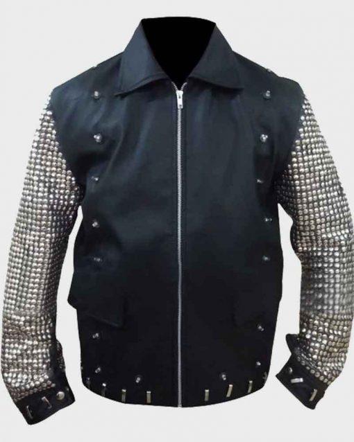 Black Leather Chris Jericho Jacket