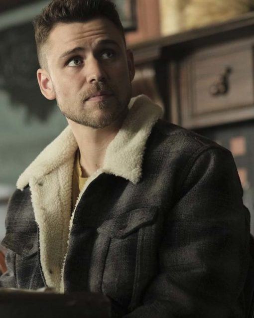 Tommy Bastow Brown Sherpa Shearling Jacket