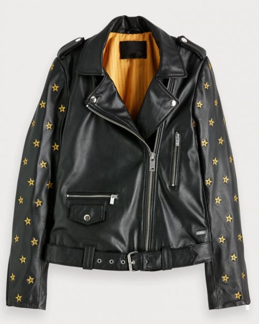Nicole Kang Gold Star Black Jacket