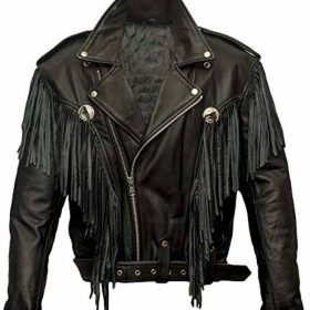Money Heist Alba Flores Black Fringe Jacket