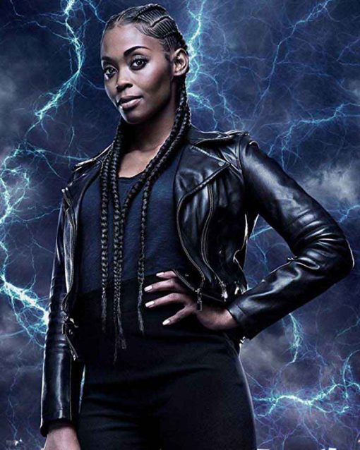 Black Lightning Leather Nafessa Williams Motorcycle Anissa Pierce Jacket