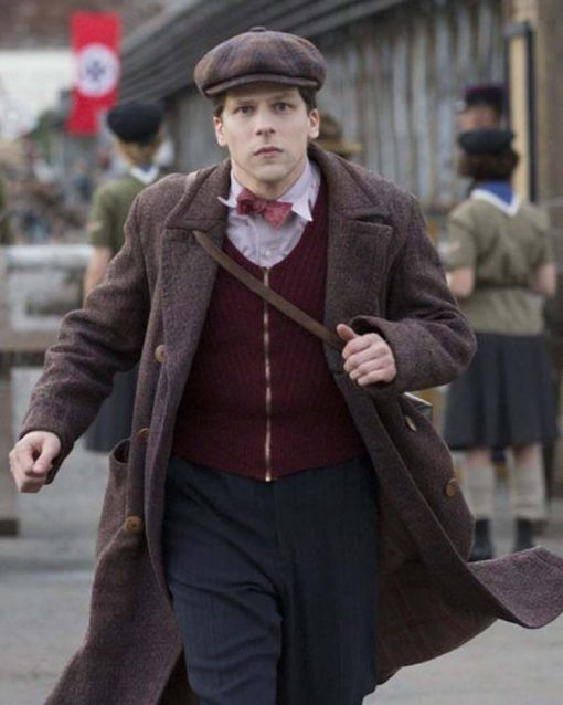 Jesse Eisenberg Brown Trench Resistance Marcel Coat