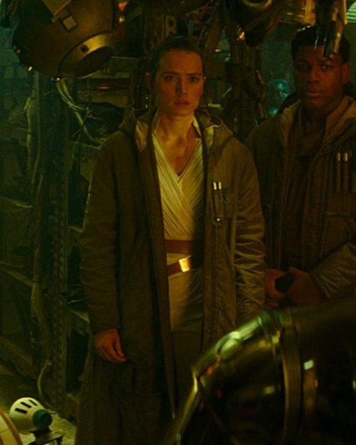Daisy Ridley Rey Trench Coat With Hood