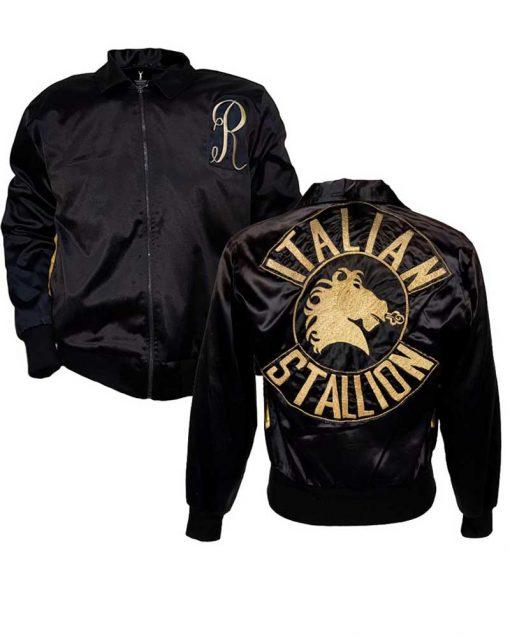 Sylvester Stallone Rocky 3 Italian Stallion Black Jacket