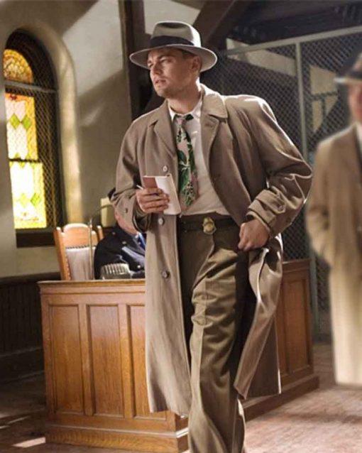 Leonardo DiCaprio Brown Trench Shutter Island Teddy Daniels Coat