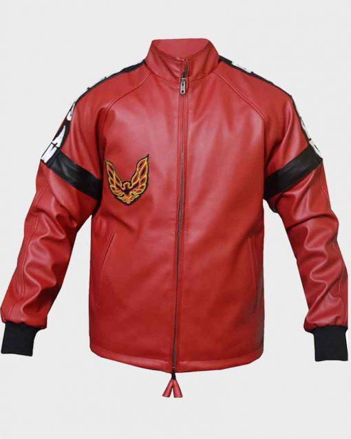 Burt Reynolds Red Bomber Leather Smokey And The Bandit Jacket