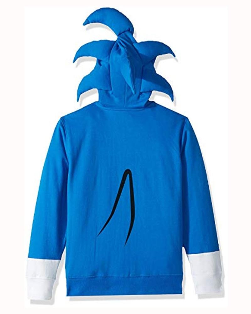 Video Game Sonic The Hedgehog Costume Blue Hoodie