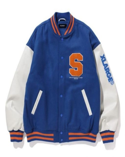 Blue and White Sonic the Hedgehog Letterman Jacket