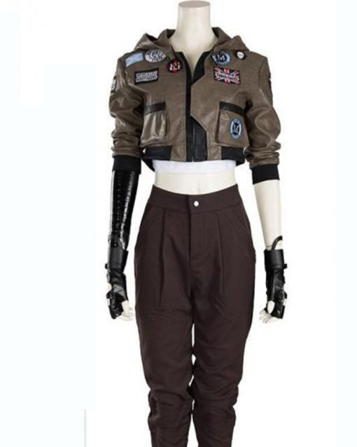 Helen Sadler Love, Death and Robots Brown Leather Cropped Jacket