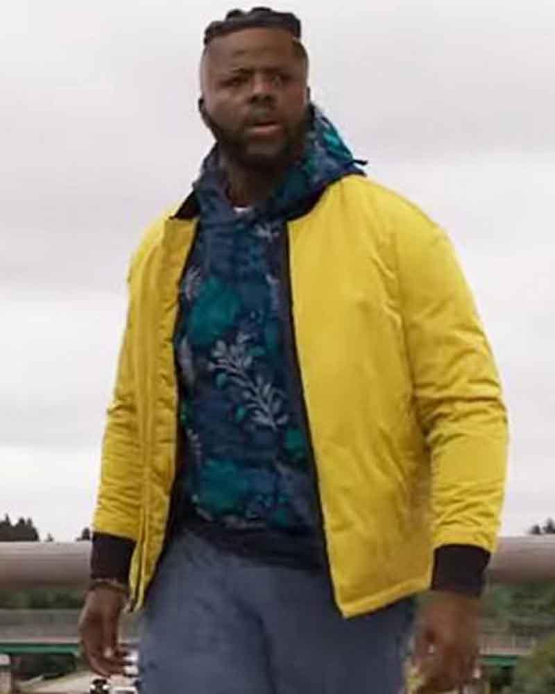 Spenser Confidential Yellow Bomber Winston Duke Hawk Jacket
