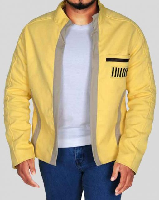 Star Wars Episode IV New Hope Yellow Leather Luke Skywalker Jacket