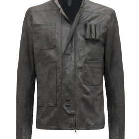 Star Wars Harrison Ford Black Leather Jacket