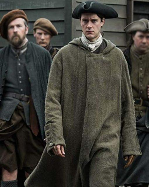 César Domboy TV Series Outlander S04 Brown Coat