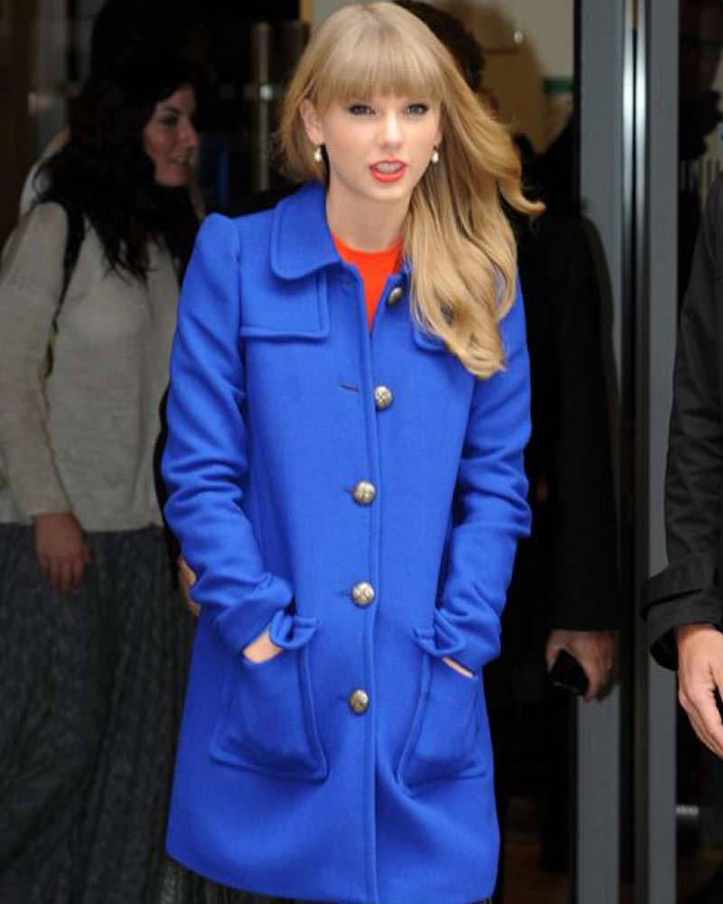 Taylor Swift Blue Coat Taylor Swift Trench Coat Danezon