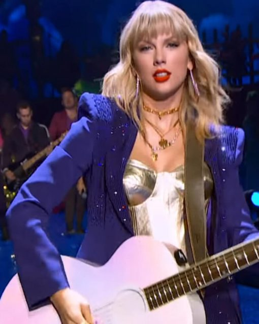 Taylor Swift Sequins Purple Blazer