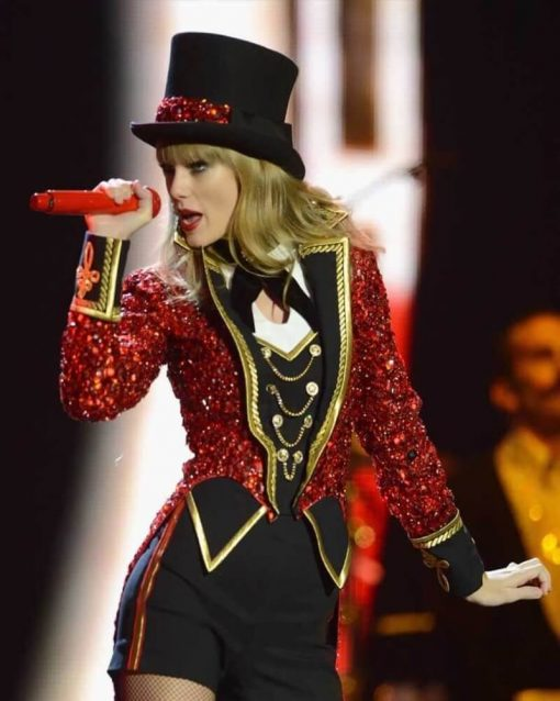 The Red Tour Taylor Swift Red Sequin Coat