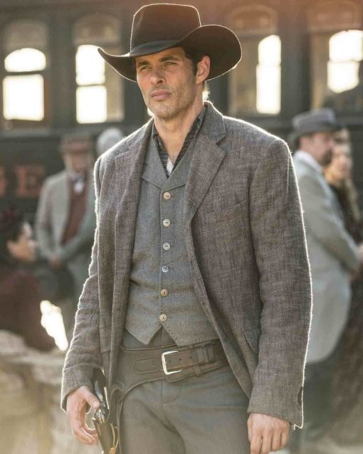 James Marsden Grey Wool Blazer Jacket