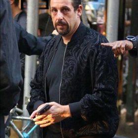 Adam Sandler Uncut Gems Black Bomber Wool Jacket