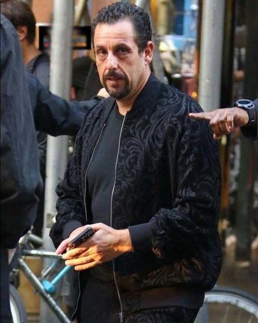 Adam Sandler Uncut Gems Black Bomber Wool Jacket