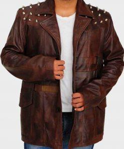WWE Brown Leather Wrestler Bray Wyatt Jacket