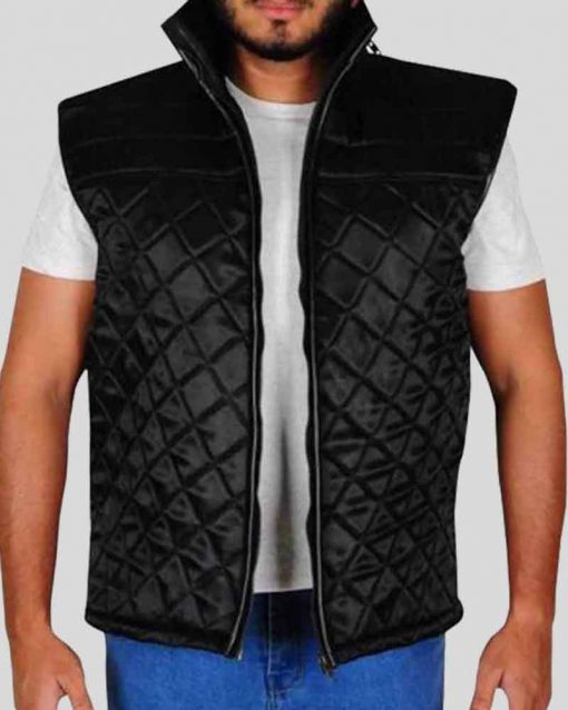 WWE Star John Cena Black Quilted Vest