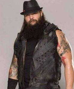 Bray Wyatt Black Leather Vest