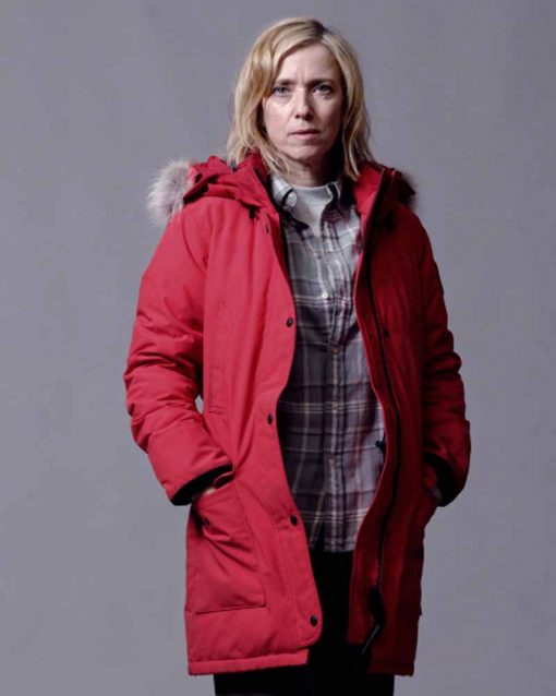 War of the Worlds Léa Drucker Red Parka Jacket