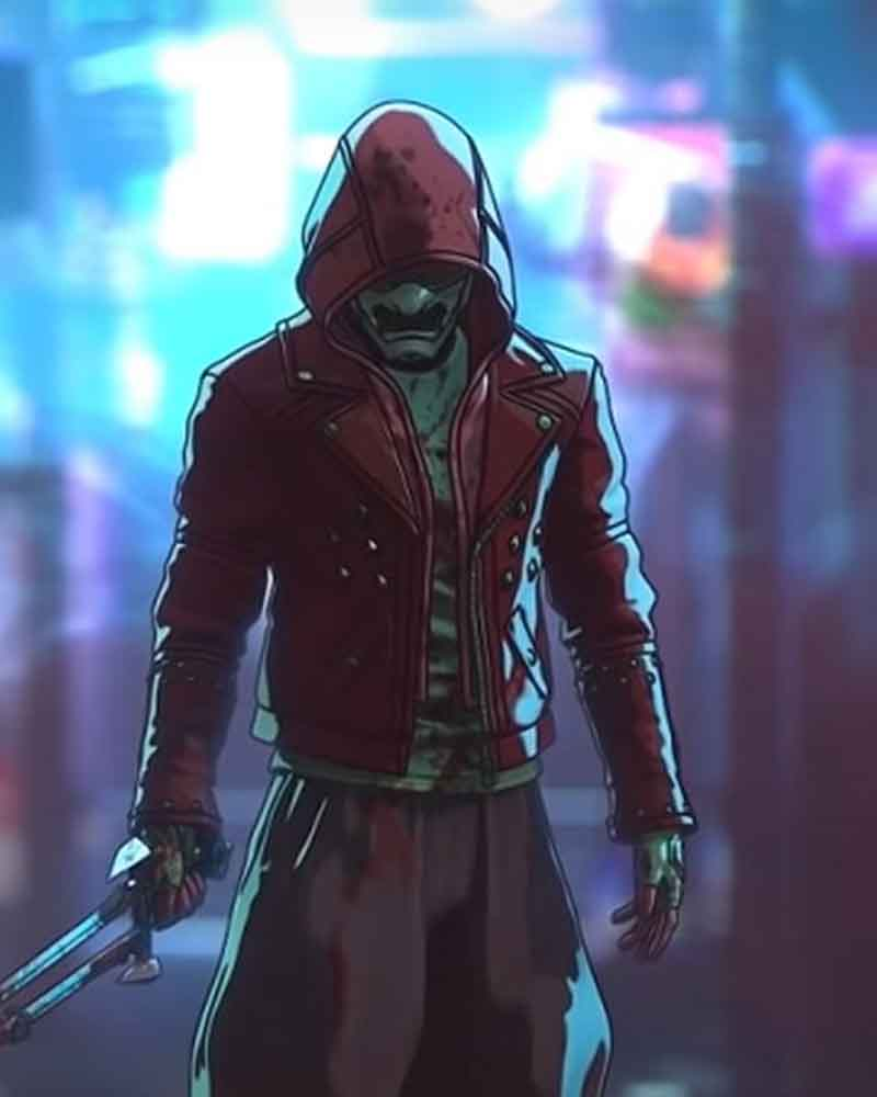 Red Motorcycle Altered Carbon Resleeved Jacket With Hood