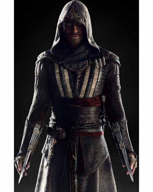 Michael Fassbender Leather Assassin's Creed Cal Lynch Aguilar Coat
