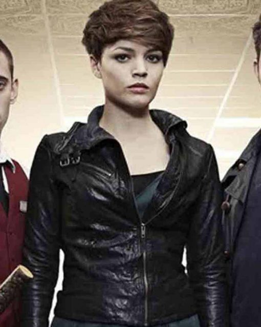 TV Series Being Human Black Leather Alex Kate Bracken Jacket