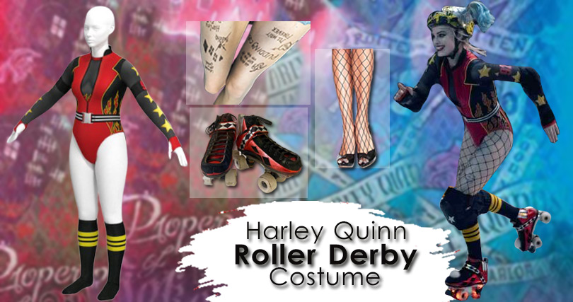 Birds of Prey Harley Quinn Roller Derby Costume