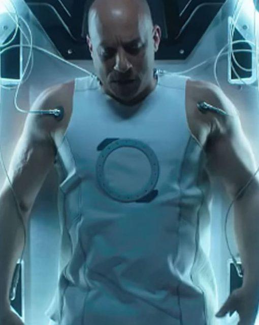 Bloodshot Vin Diesel White Leather Vest
