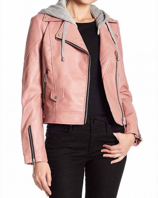 Blue Bloods S09E9 Maria Baez Leather Jacket with Hood