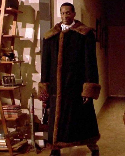ahya Abdul-Mateen II Black Suede Leather Candyman Anthony McCoy Coat