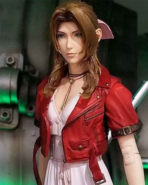 Final Fantasy VII Remake Red Leather Aerith Gainsborough Jacket