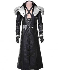 Final Fantasy VII Remake Black Leather Sephiroth Coat