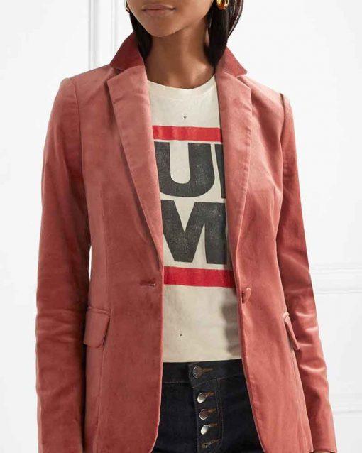 Yara Shahidi Grown-ish Zoey Johnson Velvet Blazer