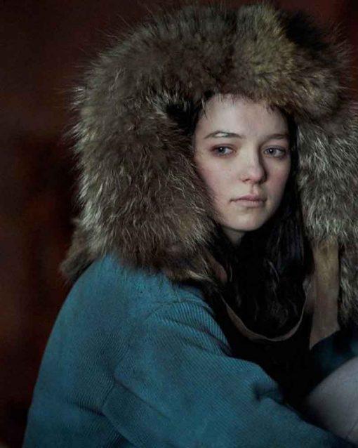 Esme Creed-Miles Hanna Corduroy Coat With Fur Hood