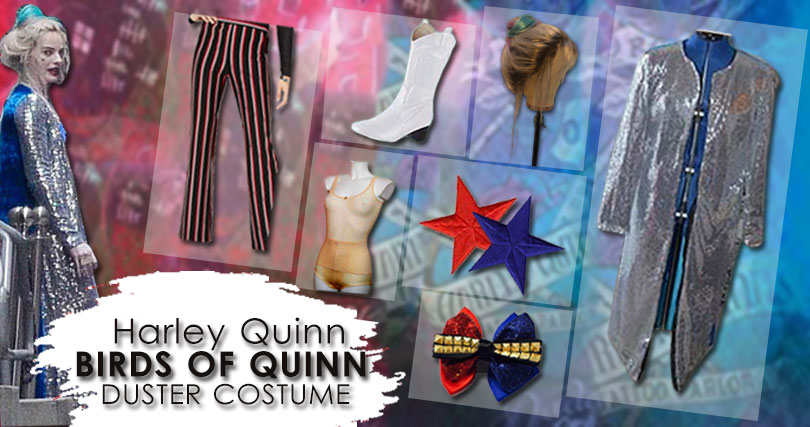 Harley Quinn Sequin Duster Costume