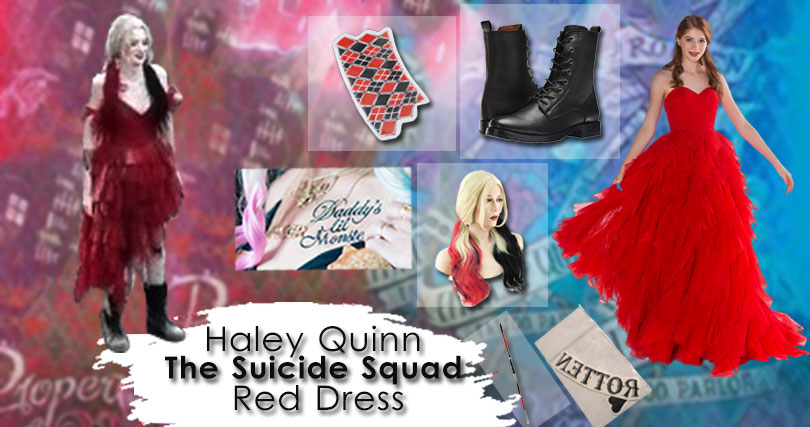 Harley Quinn The Suicide Squad 2 Red Dress