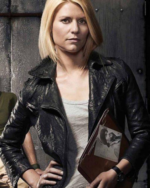 Claire Danes Homeland Carrie Mathison Biker Jacket