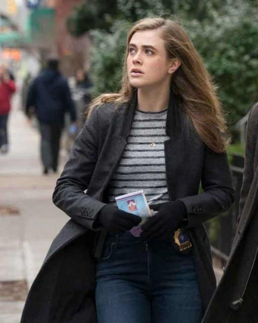 TV Series Manifest Melissa Roxburgh Black Michaela Stone Coat